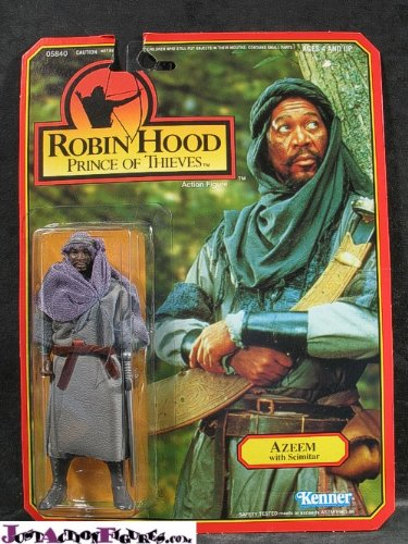 (Kenner Robin Hood Prince of Thieves Azeem with Scimitar Action Figure)