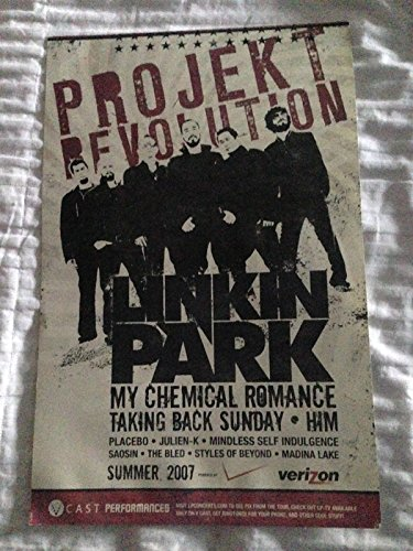 Linkin Park Poster Projekt Revolution Tour 2007 band Shot