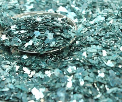 Pale Blue Authentic Imported German Super Shard Glass Glitte