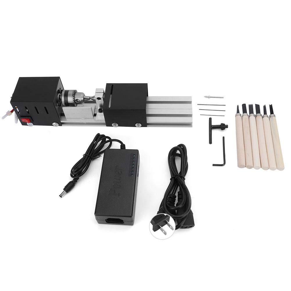 Liukouu Mini Lathe CNC Beads Machine DIY Woodworking Lathe Grinding Polishing Drill Tool(110V)