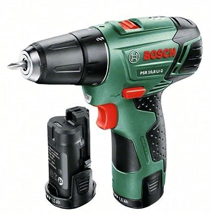 Bosch 0.603.972.90B Atornillador, 2 velocidades, 10.8 W, 10.8 V, Negro, Verde