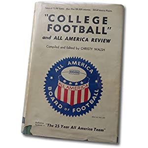 Christy Walsh Signed Autographed Hardcover Book College Football Beckett C81904