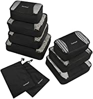 Gonex Packing Cubes 3 Set Travel Luggage Packing Organizers Pouches(Light Green)