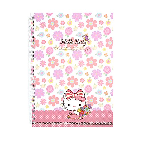 Sanrio Hello Kitty Flower - Sanrio Hello Kitty Hard Cover Ribbon Kitty College Ruled Spiral Notebook (Flowers)