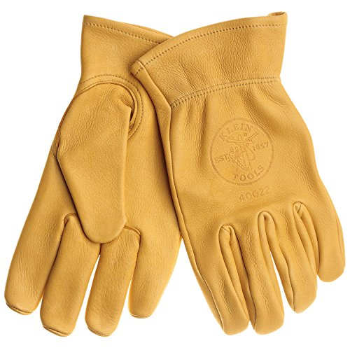 Klein Tools 40023 Cowhide Work Gloves, Unlined, X-Large