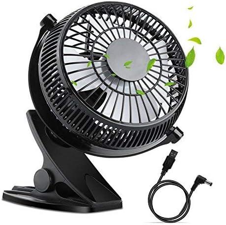 Chambre WEINAS Ventilateur de Table dUSB Tranquille 5 pouces 360/°Rotation R/églable pour Table// Bureau Voiture// Sports de plein air Mini Ventilateur de Bureau