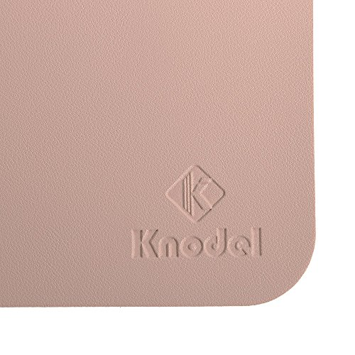 Knodel Desk Pad Protector, 31.5'' x 15.7'' PU Leather Blotter, Rectangular Laptop Desk Mat, Non-Slip Mouse Pad, Waterproof Gaming Writing Mat for Office and Home, Dual-Sided (Pink/Silver) by Knodel (Image #6)'