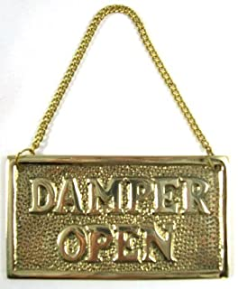 Amazon.com: Metal Fireplace Damper Pull with Solid Brass Handle ...