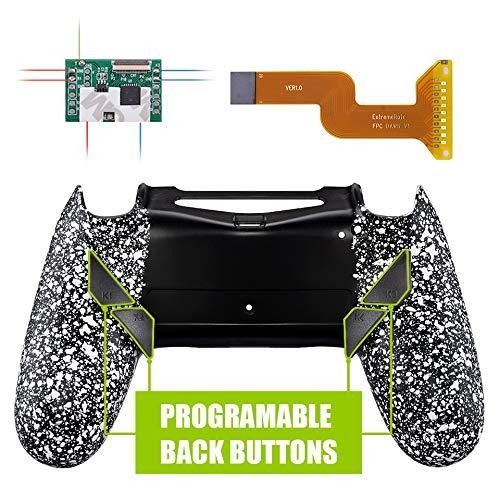 Kit de reasignación programable eXtremeRate Dawn para controlador PS4 con Mod Chip y carcasa trasera rediseñada y 4 botones de retroceso - Compatible con JDM 040/050/055 - Blanco texturizado