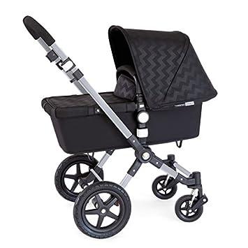 Bugaboo - Coche de Paseo Cameleon 3 Edición Especial Limitada Shiny Chevron aluminio/negro: Amazon.es: Bebé