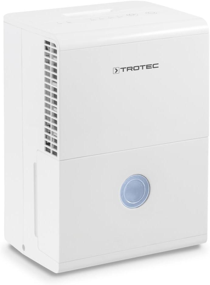 TROTEC Deshumidificador eléctrico TTK 28 E / 10L / Desagüe 2 L/Portátil/para Habitaciones de hasta 15m² / 37 m³ / Pantalla LED/Filtro de Aire/Silencioso/Auto-Apagado/Reinicio automático
