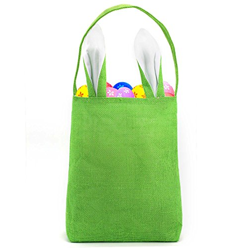 (TONOS Easter Bag Bunny Bag Dual Layer with Bunny Design Easter Egg Hunt Bag Carrying Eggs Gifts for Easter Egg Hunt Party Holding Toys Books School Project Lunch Box (Solid)