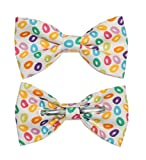 Boys Colorful Jelly Beans On White Background Clip On Cotton Bow Tie