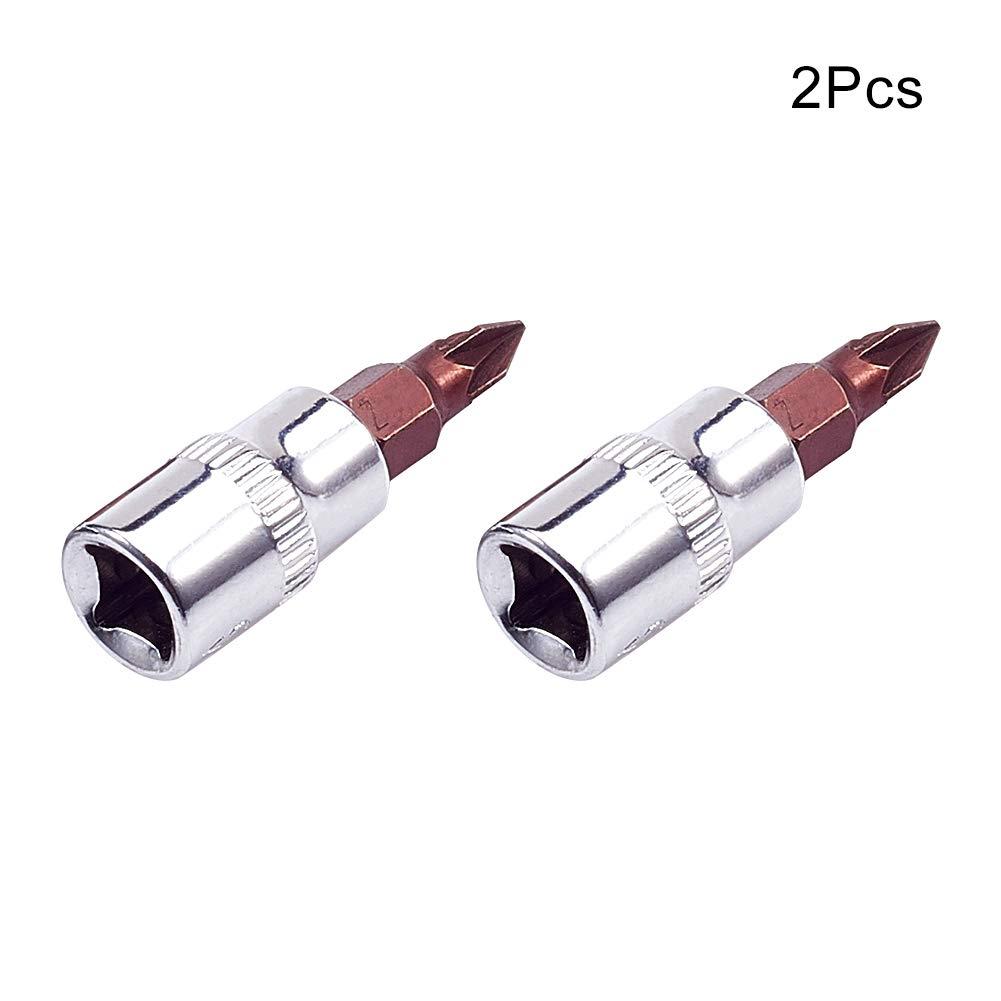 Utoolmart PZ1 Phillips Head 1//4-inch Square Chrome Vanadium Steel Drive Socket Adapter 2pcs