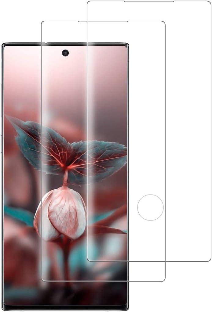 XSWO Cristal Templado Samsung Note 10 Plus [2 Unidades], Protector de Pantalla Samsung Galaxy Note 10 Plus, [3D Cobertura Completa] [Alta Sensibilidad] [9H Dureza] [Fácil Instalar] Vidrio Templado