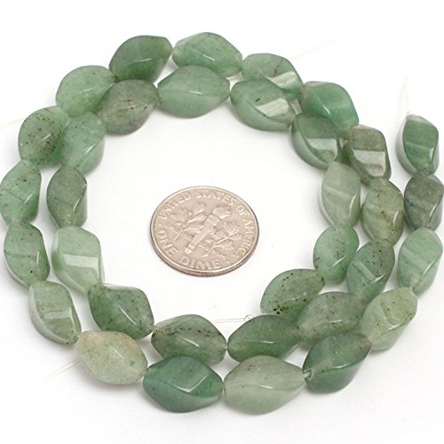 - Green Aventurine Jade Beads for Jewelry Making Gemstone Semi Precious 6x12mm Twist 15