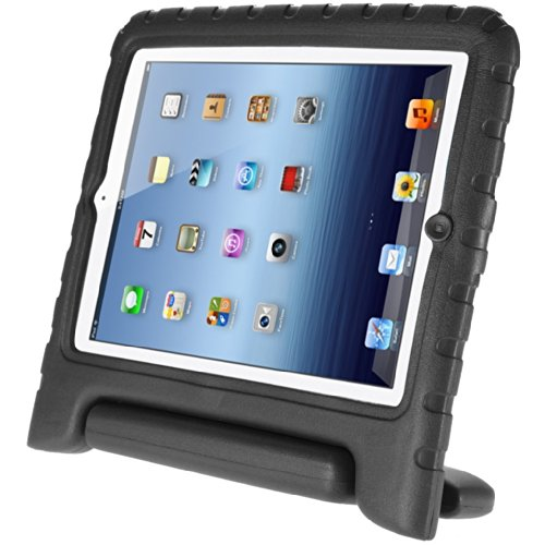Afranker Ipad 5/Air Shockproof Case Light Weight Kids Case Super Protection Cover Handle Stand Case for Kids Children for Apple Ipad 5/Air Black (Ipad Air Cover Case compare prices)