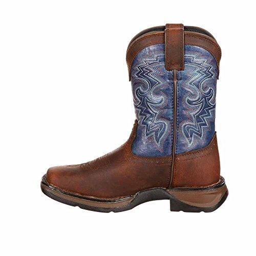 Durango Kids DWBT051 Western Boot Brown / Blue 1DPHM4D