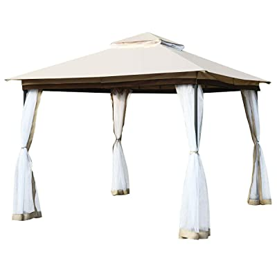 simplyUSAhello 2-Tier 10' x 10' Canopy Gazebo Tent Shelter with Mosquito Netting : Garden & Outdoor