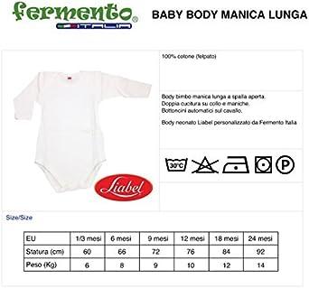 Pagliaccetto per Tifosi 100/% Cotone Felpato Liabel Fermento Italia Body Manica Lunga Neonato MANGIU BIU E TIFU Lecce