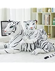 120 CM Hoge Kwaliteit Giant Witte Tijger Knuffel Baby Mooie Big Size Tijger Pluche Pop Zacht Kussen Kinderen Kerstcadeau!