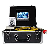 Cheap Pipe Pipeline Inspection Camera, Drain sewer Industrial Endoscope HBUDS PIC20 Waterproof IP68 Snake Video System with 7 Inch LCD Monitor 1000TVL Sony CCD Camera with 20M Cable