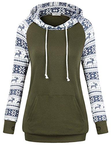 SUNGLORY Women Hoodies Sweatshirts, Women's Christmas Casual Tops ()