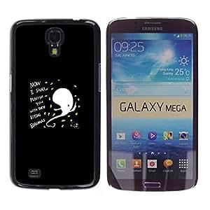 A-type Arte & diseño plástico duro Fundas Cover Cubre Hard Case Cover para Samsung Galaxy Mega 6.3 (Gracioso - Resumen Flying Bananas)