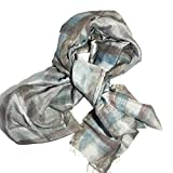 scarf elegant silk 100%handmade , scarfs womens ,Silk Shawls ,gift for friends,batik color ,ecofriendly color, (grey)