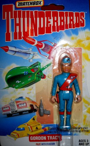 Matchbox Thunderbirds Pilot Gordon Tracy With Stun Gun 1994 (Thunder Stun Gun)