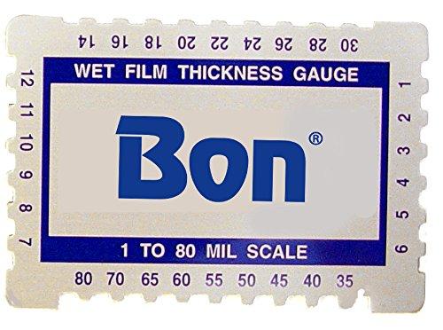 Bon 82-479 Wet Film Gauge 1-80 Mil Scale ()