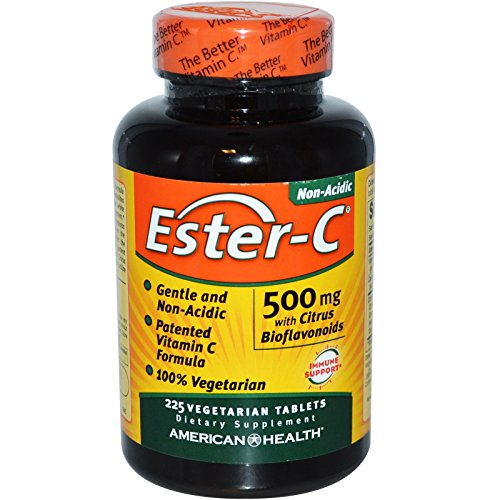 American Health, Ester-C, 500 mg with Citrus Bioflavonoids, 225 Veggie Tabs - 3PC by American Health