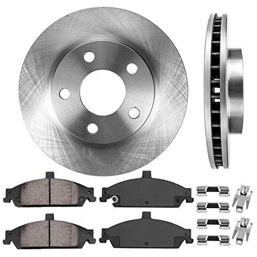 FRONT 278 mm Premium OE 5 Lug [2] Brake Disc Rotors + [4] Ceramic Brake Pads + ()