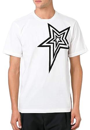 2b636c5b Pierre Balmain Star Print L'ETOILE Paris Logo Tee, White ($250) (54 ...