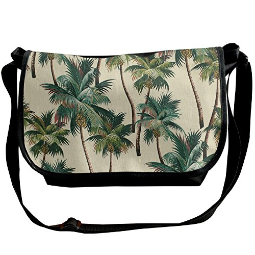 Palm Tree Shoulder Bag Crossbody Messenger Tote Casual Adjustable Strap Sling Postman Bags (Palm Tree Purse)