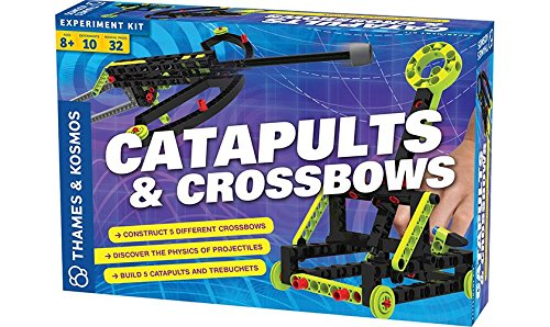 Thames & Kosmos Catapults & Crossbows Science Experiment & Building Kit | 10 Models of Crossbows, Catapults & Trebuchets | Explore Lessons In Force, Energy & Motion using Safe, Foam-Tipped Projectiles