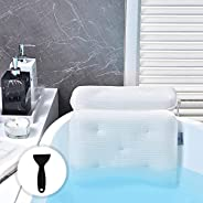 OMYSTYLE Soft 5D Mesh Bath Pillow for Tub, Bathtub Pillows with 7 Large Suction Cups, Spa Bath Pillow for Neck