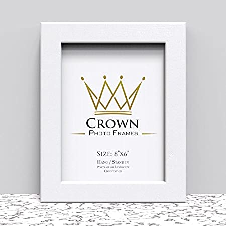 Crown White Photo Frame for 8x6 Inches (20.3 x 15.2 cm) Picture ...