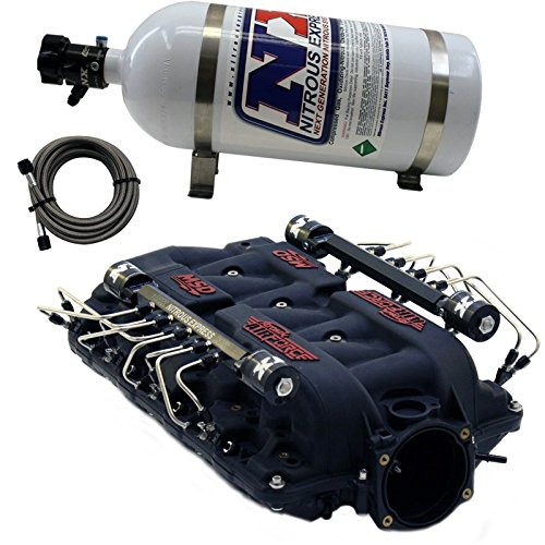 Nitrous Express INTAKE025 MSD Airforce Intake Manifold For Use w/LS7 Heads Incl. NX Shark Direct Port Nitrous System Pre-Plumbed NX System MSD Airforce Intake Manifold Direct Port Nitrous System