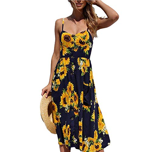Lady Dress T Shirt Long Spring Flowing Boho Maxi Knee Length Classy New Holiday Slip Casual Dresses Blue Dress S