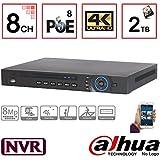 NVR4208-8P-4K 8CH 1U 8PoE 4K & H.265 Lite Network Video Recorder with 2TB Hard Drive Installed, IP NVR DVR XVR Surveillance System