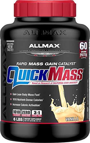 (ALLMAX Nutrition QuickMass Rapid Mass Gain Catalyst, Vanilla, 6)
