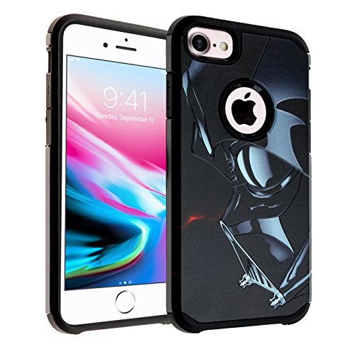 - iPhone 6S PLUS Star Wars Case, DURARMOR [Shock Absorption] Darth Vader Star Wars Dual Layer Hybrid Slim Fit Armor Drop Protection Cover for iphone 6 Plus/6s Plus Stars Wars Darth Vader
