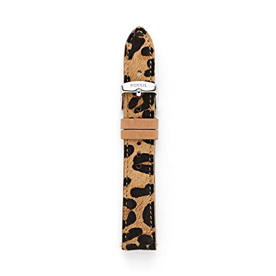 67316835e Fossil Leather 18Mm Watch Strap - Cheetah S181164: Amazon.ca: Watches