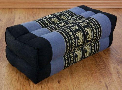 Asia Wohnstudio Asana Block, 100% Natural Kapok Filling, Block Cushion For Yoga, Bolster, Meditation, Thai Cushion, Firm And (Yoga Pillow) With Xxl Triangle Yoga Pillow by Asia Wohnstudio