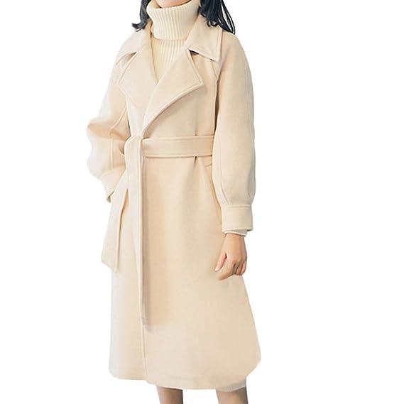 Ansenesna Abrigos Mujer Invierno Elegantes Talla Grande Rebajas Lana Solapa Invierno para Mujer Trench Jacket Abrigo De Manga Larga Outwear: Amazon.es: Ropa ...