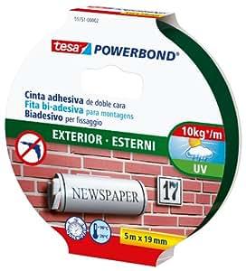 Tesa powerbond cinta de doble cara para exteriores 5 m - Cinta doble cara tesa ...