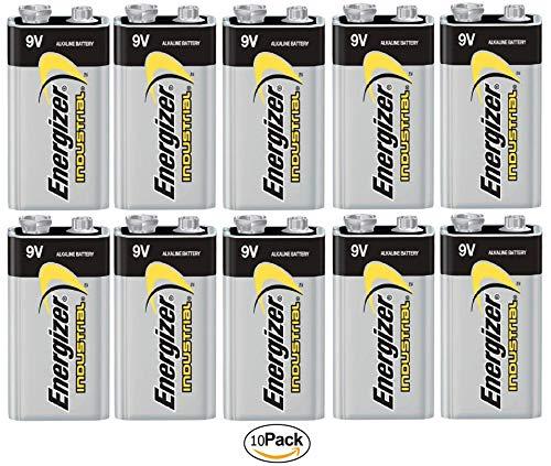 (Energizer Industrial (EN22) 9 Volt Alkaline Batteries (10 Pack))
