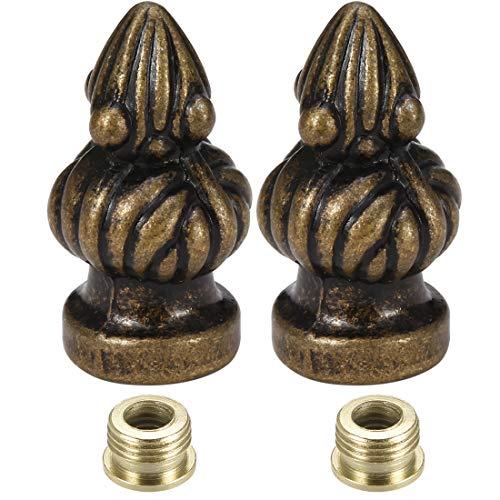 uxcell Bronze Cap Knob Lamp Shade Finial Decoration Dual Thread 1-3/8 inch High 2Pcs]()
