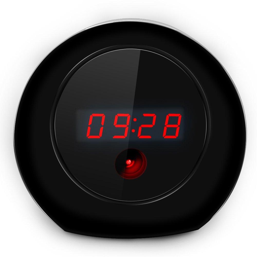 AISOUL Wi-Fi Hidden Camera Alarm Clock Full HD 1080P Real-time Video Spy Camera (Apple-shaped Hidden Camera)